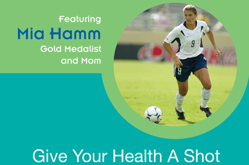 Healthcare Program featuring Mia Hamm